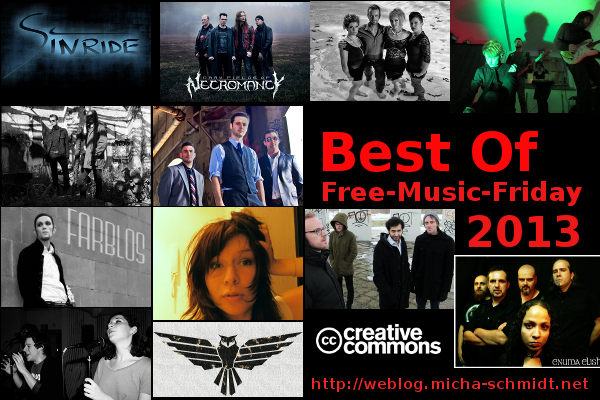 Best Of Free-Music-Friday 2013